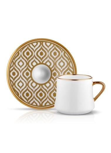 Koleksiyon Sufi Çay Fincan Seti 6'lı Ikat Altın-Koleksiyon
